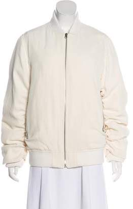Acne Studios Ruched Bomber Jacket