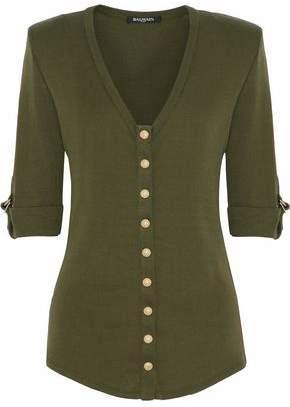 Balmain Button-Detailed Cotton Top