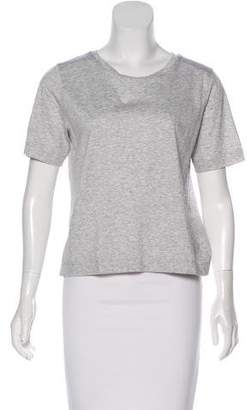 Club Monaco Short Sleeve Bow-Embellished Top