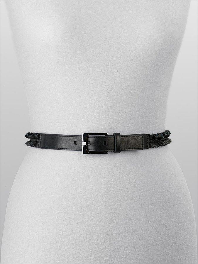 Calvin Klein Ruffled Skinny Belt