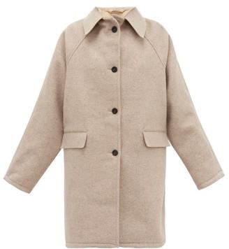 BEIGE Kassl Editions - Raglan Sleeve Felted Wool Coat - Womens