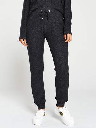Very KnittedDrawcord Co Ord Jogger - Black