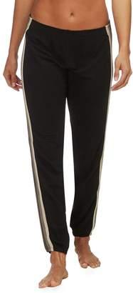 Monrow Supersoft Neutral Stripe Elastic Waist Sweat Pant - Women's
