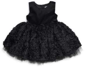 story. Toddler's Fairytale Time Satin Sequined Dress