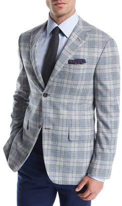 Oxxford Plaid Escorial Wool Sport Coat
