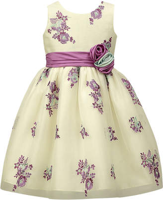 Jayne Copeland Embroidered Tulle Overlay Dress, Little Girls