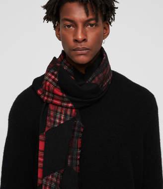 AllSaints Best Check Tie Dye Scarf