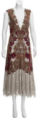 Jonathan Simkhai Metallic Lace Dress w/ Tags Brown Metallic Lace Dress w/ Tags