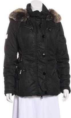 Gorski Apres Ski Fur-Trimmed Fitted Jacket