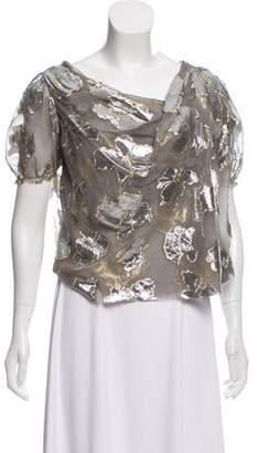 David Szeto Metallic Silk Top