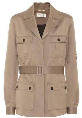 Saint Laurent Saharienne cotton and linen jacket