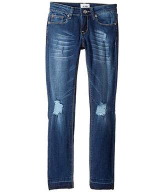 Hudson Christa Super Stretch in Vintage Blue Wash (Big Kids)