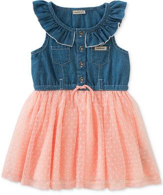 Calvin Klein Denim & Tulle Dress, Baby Girls (0-24 Months) $50 thestylecure.com