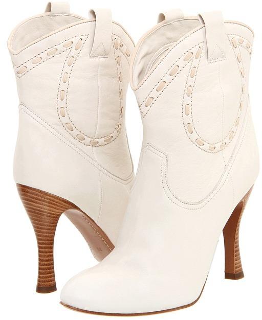 Marc Jacobs MJ18281 (102-Milk/Sandy Liss Old West Goat Calf) - Footwear