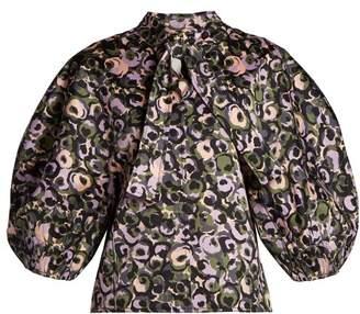 Marni - Puff Sleeve Blouse - Womens - Green Print
