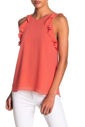 Naked Zebra Ruffle Accent Low Back Tank