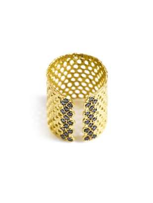 Black Diamond LARA MELCHIOR Bague I and gold-plated ring