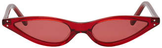 Cat Eye George Keburia Red Micro Cat-Eye Sunglasses