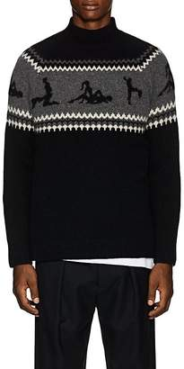 The Elder Statesman Men's Kamasutra Fair Isle Cashmere Sweater