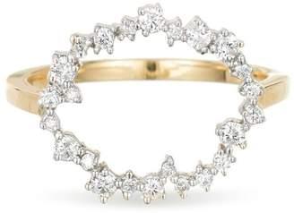 Adina Diamond Circle Ring