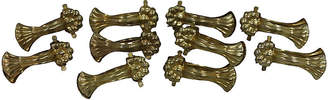 One Kings Lane Vintage French Brass Tablecloth Clamps - Set of 10 - Rose Victoria