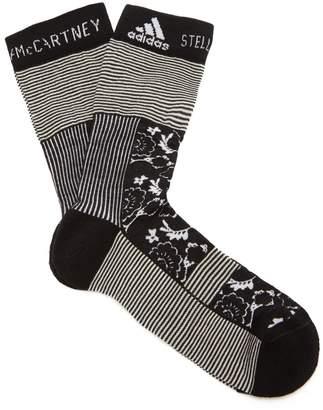 adidas by Stella McCartney Flower-jacquard socks