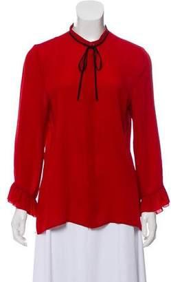 d71fec68a8869f Silk Button Up Blouse - ShopStyle