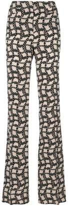 Prada printed high-waisted trousers