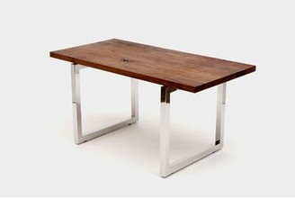 """Artless Gax Writing Desk Size: 30"""" H x 48"""" W x 24"""" D, Color: Stainless Steel"""