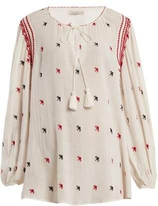 Mes Demoiselles Fedora long-sleeve blouse