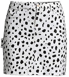 ATM Anthony Thomas Melillo Women's Animal-Print Mini Skirt - Size 0
