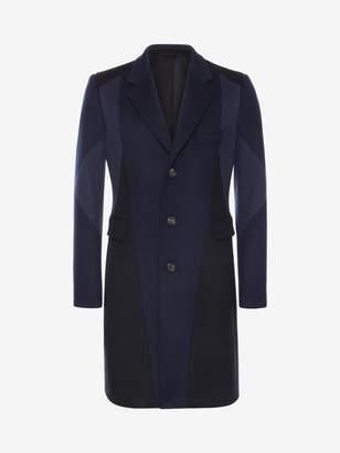 Alexander McQueen Patchwork Wool Coat