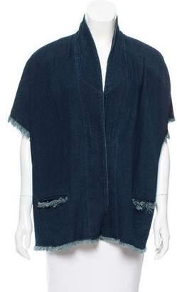 Simon Miller Denim Frayed-Trimmed Jacket