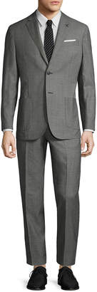 Michael Bastian Gray Label Wool Mini Pindot Notch Lapel Suit