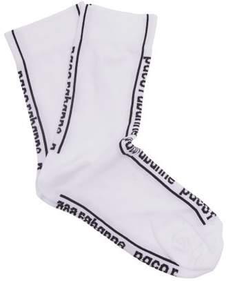 Paco Rabanne Logo Intarsia Socks - Womens - White