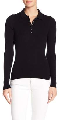 Minnie Rose Long Sleeve Ribbed Polo Shirt