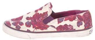 Tory Burch Canvas Slip-On Sneakers