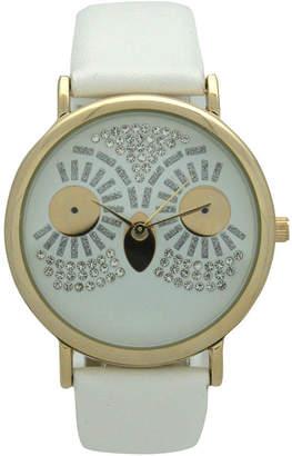 OLIVIA PRATT Olivia Pratt Owl Womens White Strap Watch-15525white