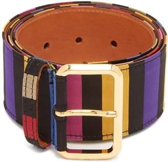 Etro Striped satin belt