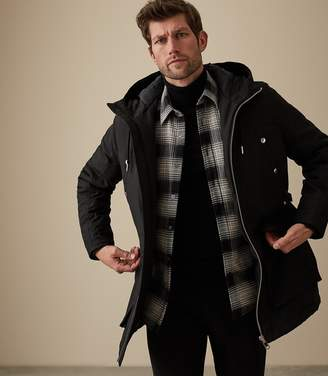 Reiss Our last order date for Christmas has now passed TORONTO HOODED PARKA Black