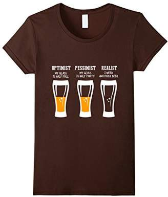 Optimist Pessimist Realist Beer Drinker | T-Shirt VU