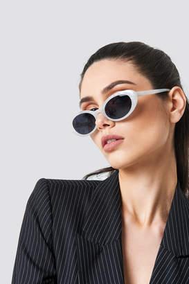 Na Kd Accessories Retro Oval Sunglasses White Smoke