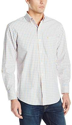 Izod Men's Long Sleeve Essential Tattersall Shirt
