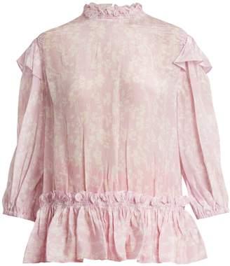 Preen Line Sienna floral-print high-neck blouse