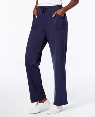 Karen Scott Petite Active Terry Drawstring-Waist Pants, Created for Macy's