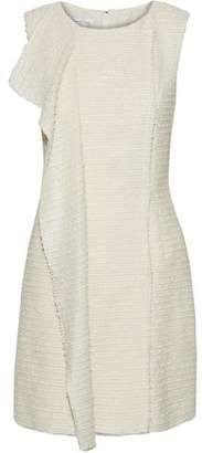 Oscar de la Renta Sequin-Embellished Wool-Blend Bouclé Mini Dress