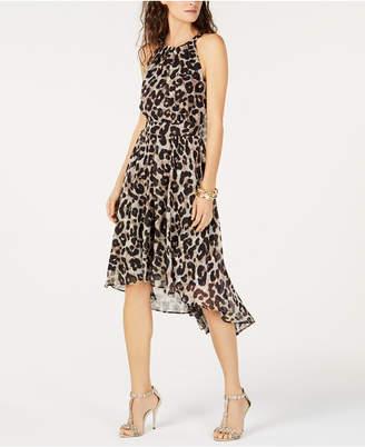 INC International Concepts I.N.C. Cheetah-Print High-Low Dress, Created for Macy's