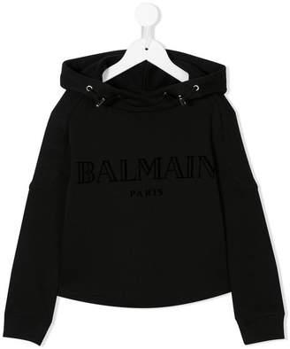 Balmain Kids branded hoodie