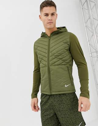 6e956ceeb45d Nike Running Padded Hooded Jacket In Khaki AH0544-395