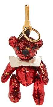 Burberry Thomas Bear Sequinned Key Ring - Womens - Red